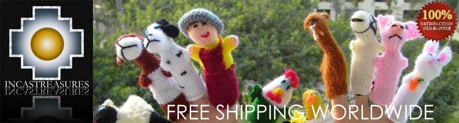 hand-knit finger puppets