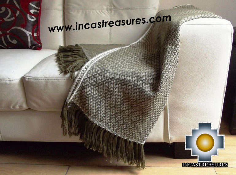 Alpaca Blanket gardens  - Product id: alpacablanket16-03