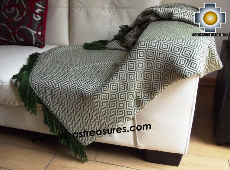 Alpaca Blanket rainforest  - Product id: alpacablanket16-06