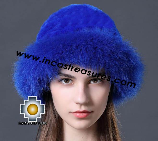 Alpaca fur hat cuajone blue - Product id: ALPACA-FUR-HAT-11-03