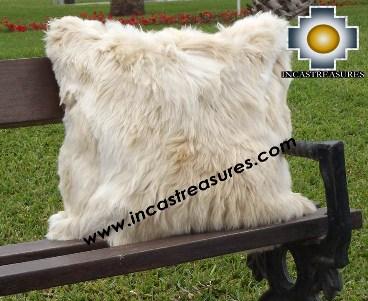 100% Baby Alpaca Cushion Both Sides Premium SURI Black - Product id: Alpaca-cushion12-11beige Photo04