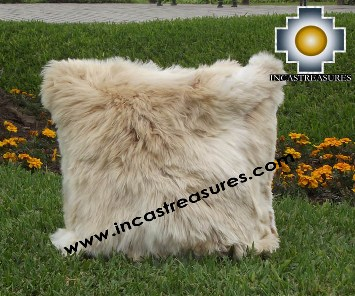 100% Baby Alpaca Cushion Both Sides Premium SURI Black - Product id: Alpaca-cushion12-11beige Photo03