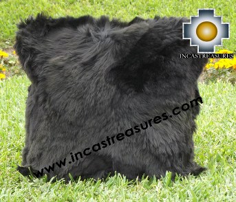 100% Baby Alpaca Cushion Both Sides Premium SURI Black - Product id: Alpaca-cushion12-09black Photo02
