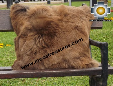 100% Baby Alpaca Cushion Both Sides Premium SURI Brown - Product id: Alpaca-cushion12-10brown Photo04