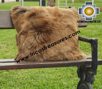 100% Baby Alpaca Cushion Both Sides Premium SURI Brown  - Product id: Alpaca-cushion12-10brown Photo03