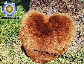100% Baby Alpaca Cushion Both Sides Hart - Product id: Alpaca-cushion12-09black Photo03