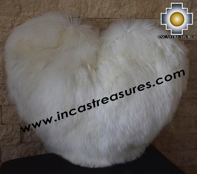 100% Baby Alpaca Cushion Both Sides Hart - Product id: Alpaca-cushion12-09black Photo02