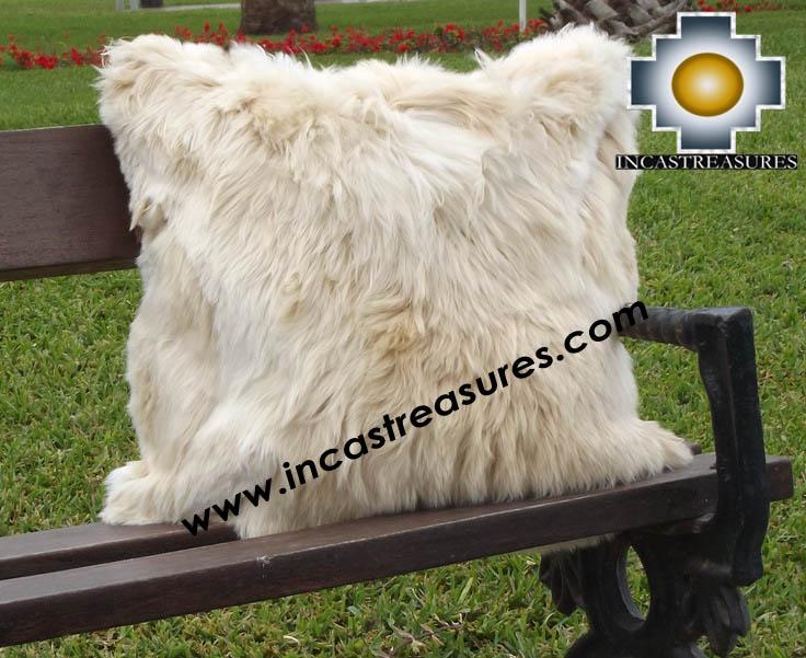100% Baby Alpaca Cushion Both Sides Premium SURI Black - Product id: Alpaca-cushion12-11beige