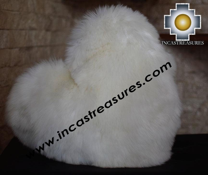 100% Baby Alpaca Cushion Both Sides Hart - Product id: Alpaca-cushion12-09black