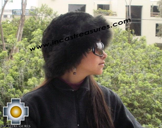 Alpaca Fur Hat Cuajone black