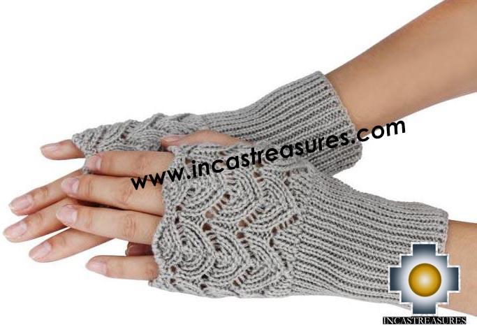 Alpaca Wool Fashion Fingerless Gloves