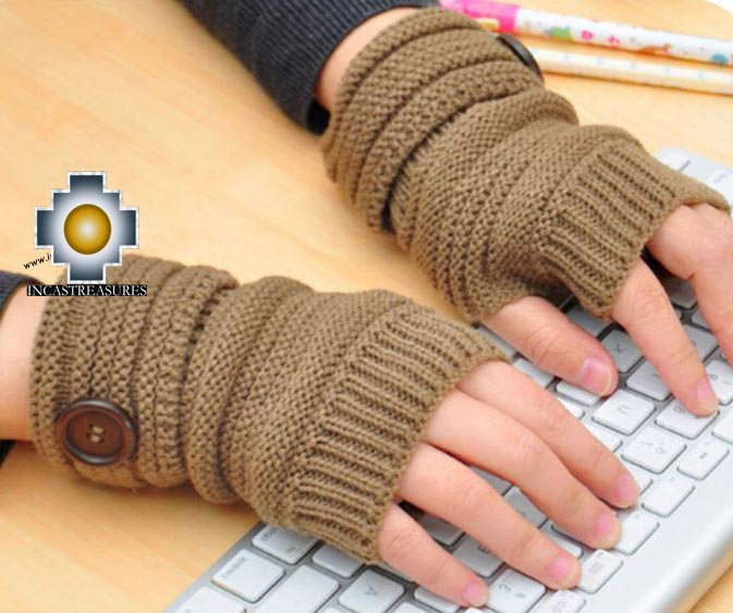 100% Alpaca Wool Andenes Mittens - Product id: ALPACAGLOVES19-andenes-mittens Photo02