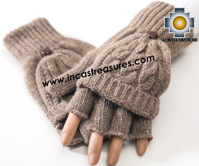 100% Alpaca Wool Fashion Mittens - Product id: ALPACAGLOVES19-fashion-mittens Photo02