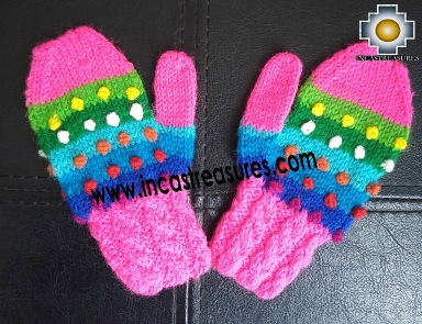 Alpaca CHILDREN Mittens Gloves MAKI