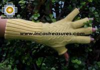 100% Alpaca Wool Knit Fingerless Gloves Solid Color - Product id: ALPACAGLOVES09-36 Photo04