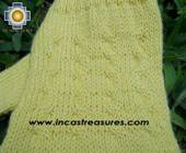 100% Alpaca Wool Knit Fingerless Gloves Solid Color - Product id: ALPACAGLOVES09-36 Photo09