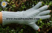 100% Alpaca Wool Knit Fingerless Gloves Solid Color - Product id: ALPACAGLOVES09-36 Photo08