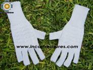 100% Alpaca Wool Knit Fingerless Gloves Solid Color - Product id: ALPACAGLOVES09-36 Photo03