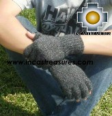 100% Alpaca Wool Fingerless Gloves RUMI  - Product id: ALPACAGLOVES09-21 Photo02