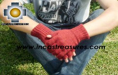 100% Alpaca Wool Fingerless Gloves runa  - Product id: ALPACAGLOVES09-21 Photo02