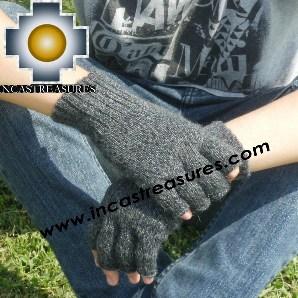 100% Alpaca Wool Fingerless Gloves ushpa  - Product id: ALPACAGLOVES09-21 Photo01