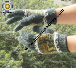 100% Alpaca Alpaca Wool Gloves New Designs ,KIT OF 10 ASSORTED NATURAL COLORS