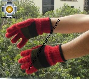Alpaca Wool Gloves STRIPES ,KIT OF 10 ASSORTED