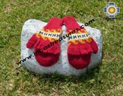 100% Alpaca Wool Hand Knit Mittens Mitts puka - Product id: ALPACAGLOVES09-02 Photo02