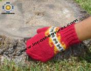 100% Alpaca Wool Hand Knit Mittens Mitts puka - Product id: ALPACAGLOVES09-02 Photo04