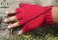 100% Alpaca Wool Hand Knit Mittens Mitts puka - Product id: ALPACAGLOVES09-02 Photo05