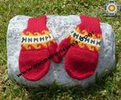 100% Alpaca Wool Hand Knit Mittens Mitts puka - Product id: ALPACAGLOVES09-02 Photo01