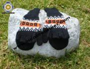 100% Alpaca Wool Hand Knit Mittens Mitts TUTA - Product id: ALPACAGLOVES09-01 Photo02