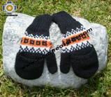 100% Alpaca Wool Hand Knit Mittens Mitts TUTA - Product id: ALPACAGLOVES09-01 Photo01