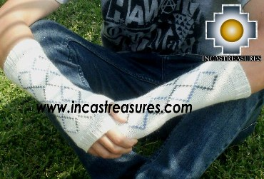 100% Alpaca Wool Wrist Warmers Gloves anpi - Product id: ALPACAGLOVES12-02 Photo01