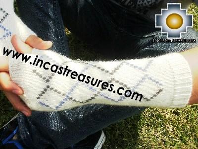 100% Alpaca Wool Wrist Warmers Gloves anpi - Product id: ALPACAGLOVES12-02 Photo02