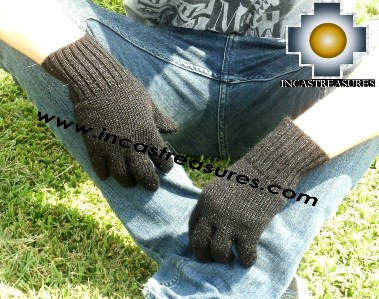100% Alpaca Wool gloves Black - Product id: ALPACAGLOVES09-06 Photo03