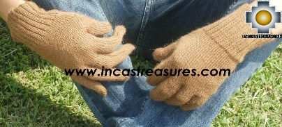 100% Alpaca Wool gloves Camel- Product id: ALPACAGLOVES09-06 Photo03