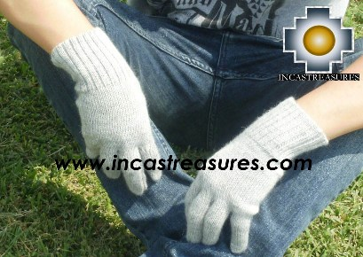 100% Alpaca Wool gloves Silver- Product id: ALPACAGLOVES09-06 Photo03
