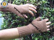 100% Alpaca Wool Mitts Solid Color - Product id: ALPACAGLOVES09-37 Photo05