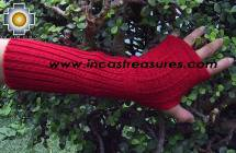 100% Alpaca Wool Wrist Warmers Gloves Solid Color - Product id: ALPACAGLOVES09-35 Photo05