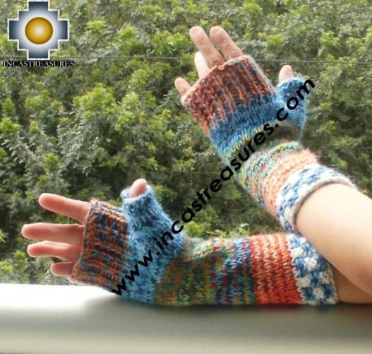 Alpaca Wool Hand Knit Mittens gloves chunka - Product id: ALPACAGLOVES09-59Photo02