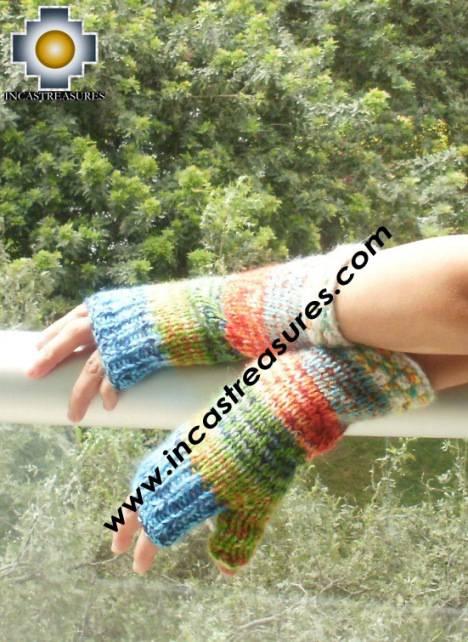 Alpaca Wool Hand Knit Mittens gloves chunka - Product id: ALPACAGLOVES09-58Photo01