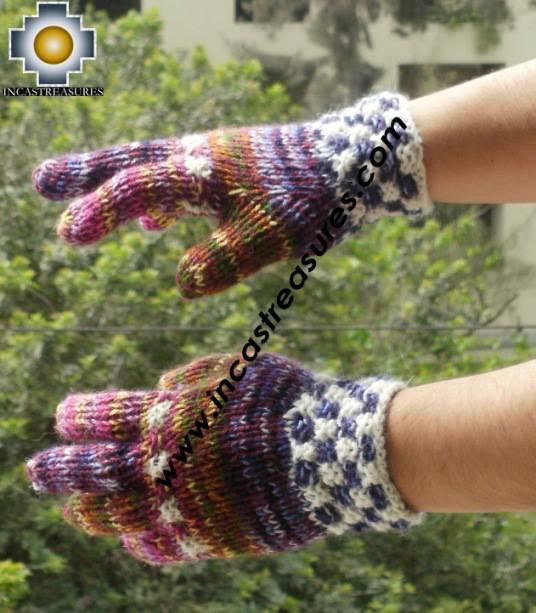 Alpaca Wool Hand Knit Mittens gloves chunka - Product id: ALPACAGLOVES09-53Photo01