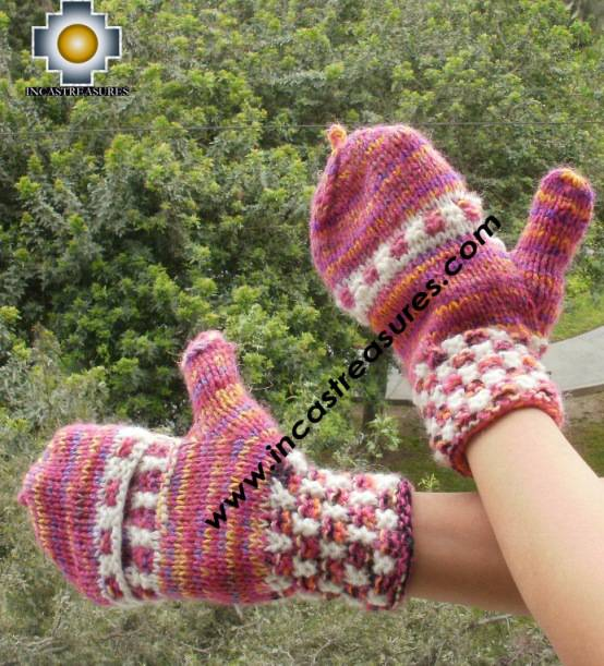 Alpaca Wool Hand Knit Mittens Gloves Iskay - Product id: ALPACAGLOVES09-44 Photo03