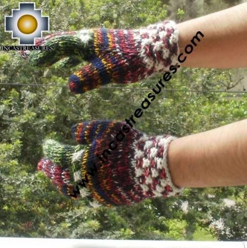 alpaca wool mittens gloves snowcone ISQON