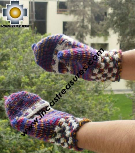 alpaca wool mittens gloves snowcone kimsa