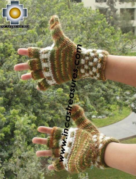 alpaca wool mittens gloves snowcone Tawa
