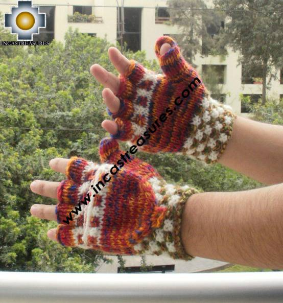 Alpaca Wool Hand Knit Mittens Gloves UC - Product id: ALPACAGLOVES09-43 Photo01