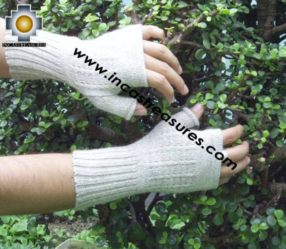 100% Alpaca Wool Mitts Solid Color - Product id: ALPACAGLOVES09-37 Photo07