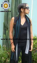 Alpaca Scarf with stripes Pisac  - Product id: alpaca-scarf-01 Photo02